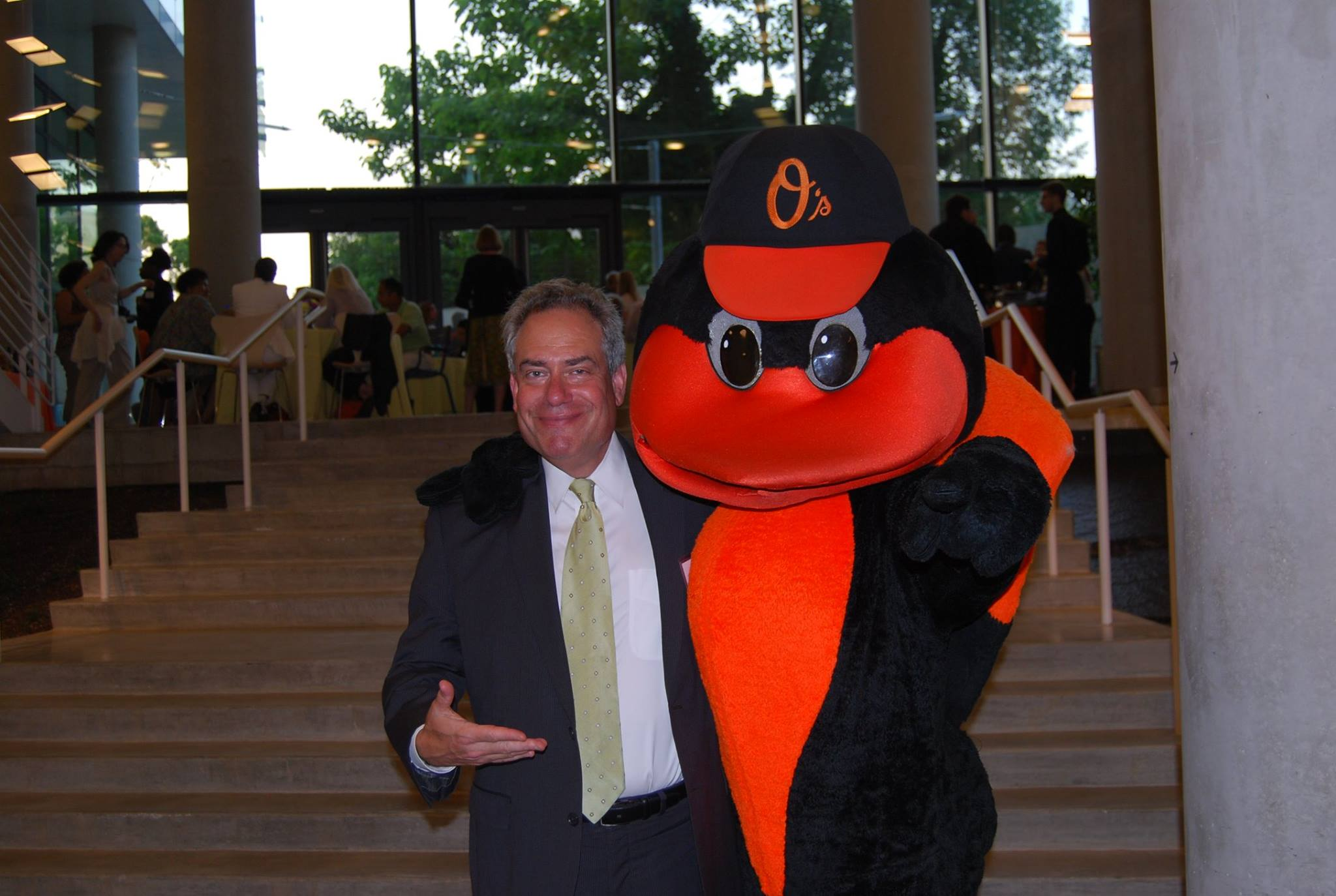 Ron Weich and Oriole Bird