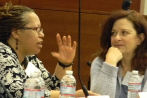 Panelist Gina Wood with CFCC Senior Fellow Gloria Danziger at the 2011 Urban Child Symposium