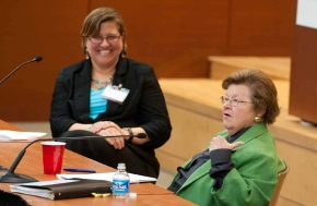 Professor Margaret Johnson with Senator Barbara Mikulski at the 2012 Feminist Legal Conference